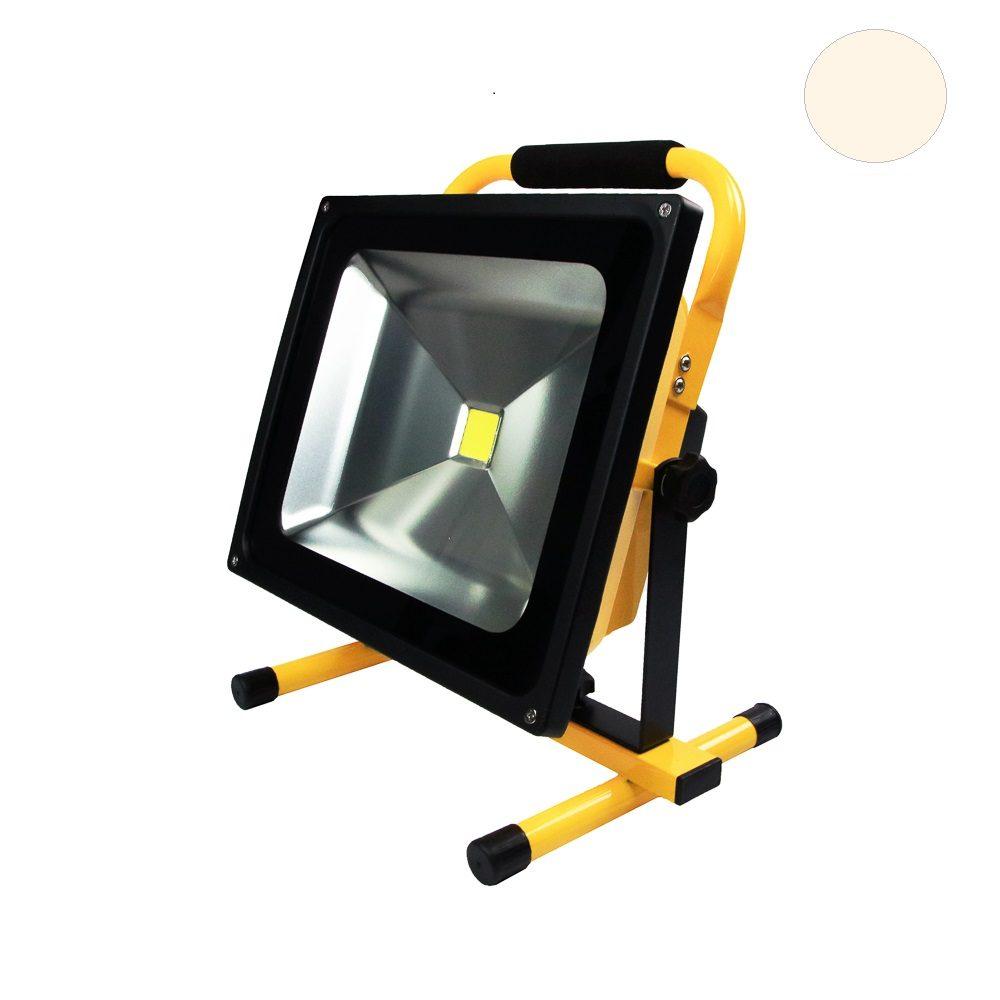 Populair Led bouwlamp op accu 50 Watt warm-wit | Led Wereld KN14