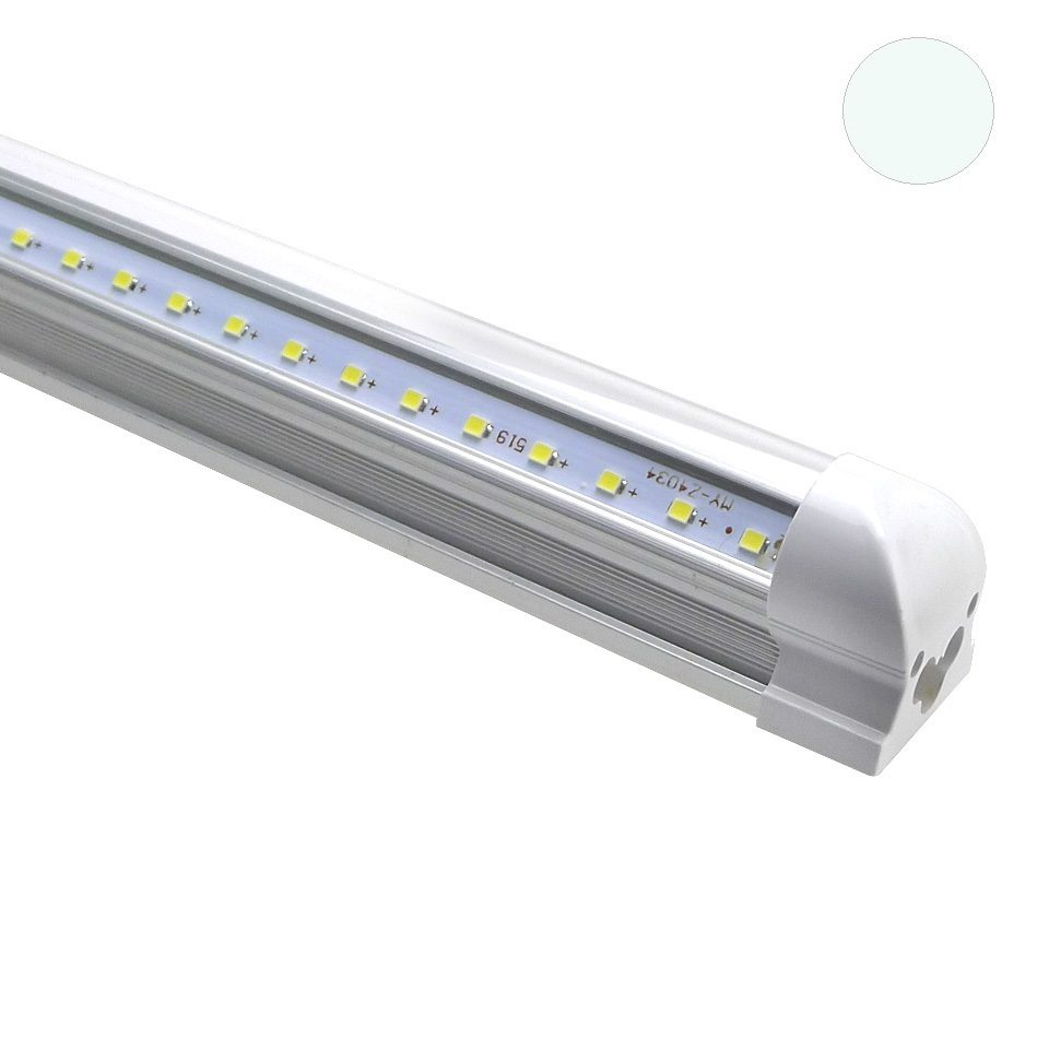 Led Tl Verlichting.Led Tl Armatuur T8 120 Cm Koud Wit Extra Helder Transparant
